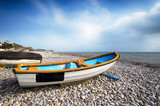 Boats on Beach at Budleigh Salterton