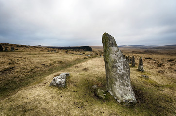 Scorehill Stone Circle on Dartmoor