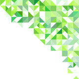 Green background with triangles and squares