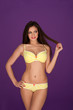 Sexy woman in yellow lingerie