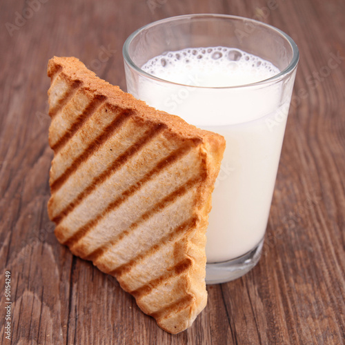 milk and toast