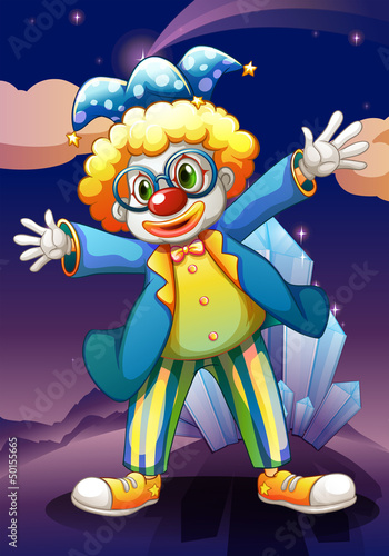 A clown in the middle of the night