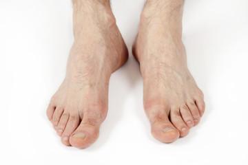 man's feet