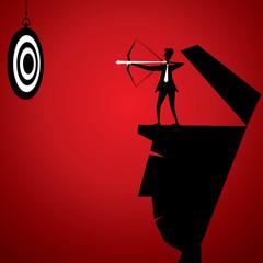 businessmen hit archery board