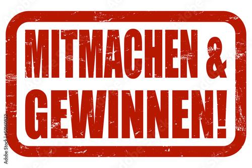 Grunge Stempel rot MITMACHEN & GEWINNEN!
