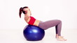 Pilates sit up exercise
