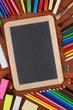 Leere Schiefertafel mit Platz für Ihren eigenen Text