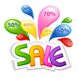 vector illustration of colorful sale with splash of offer