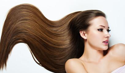 Beautiful  Girl. Healthy Long Hair