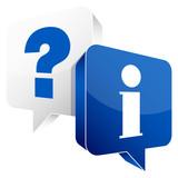 Speech Bubbles Question White & Information Blue