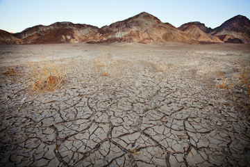 Barren earth in Death Valley