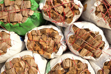coconut coir for orchid plantation in white bag