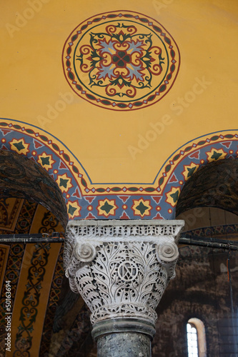 Interior of the Hagia Sophia in Istanbul. Turkey