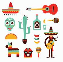 Mexico icons