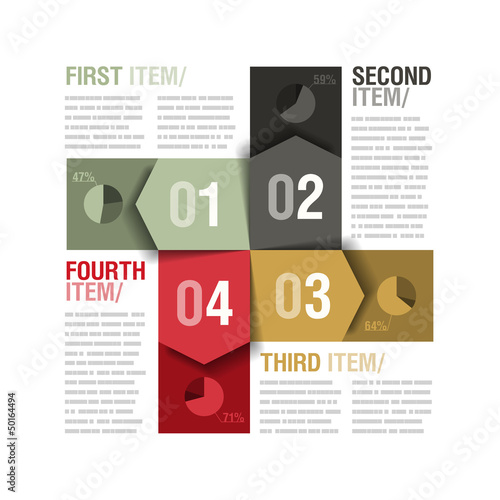 Four parts design template