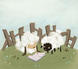 ovejas leyendo