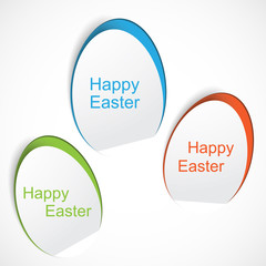 Colorful Easter egg stickers
