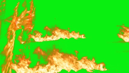 the word of Fire with green screen