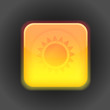 Sunny app icon. Vector design element