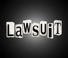 Lawsuit concept.