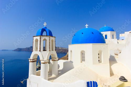 dome church in Santorini Greece