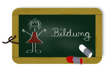 Schultafel mit Schriftzug, Bildung