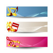Colorful music sbanners set.