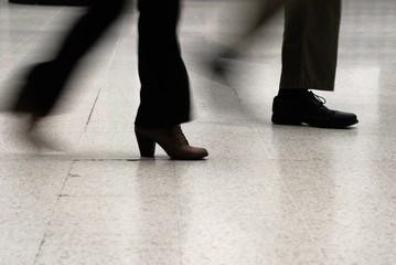Rushing feet