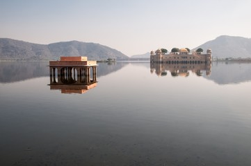 Lake Man Sagar and Jal Mahal, Jaipur