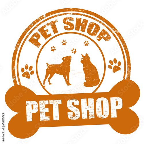 Pet shop stamp