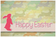Easter Bunny card an Happy Easter wishes