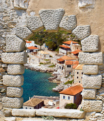 Limeni traditional fishing village at Peloponnese, Mani, Greece