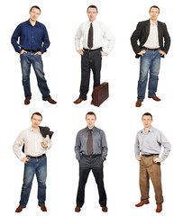 Man Wearing Diverse Clothes