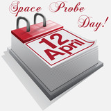 calendar 12  April .Space Probe Day.