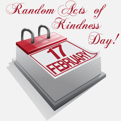 calendar 17 February Random Acts of Kindness Day