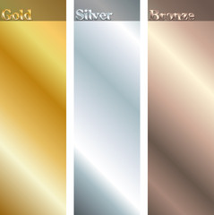 Gold, silver, bronze