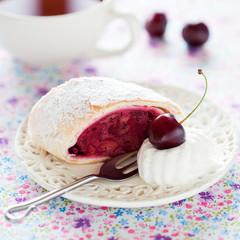 Cherries strudel