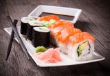 Fototapety Japanese seafood sushi