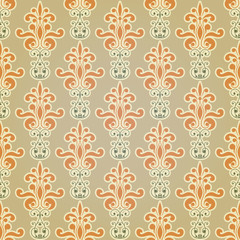 Vector Seamless Floral Wallpaper Pattern