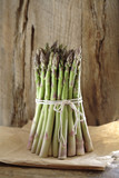 Asparagus spears tied together