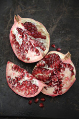 Pomegranate broken open