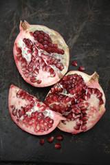 Pomegranate broken open