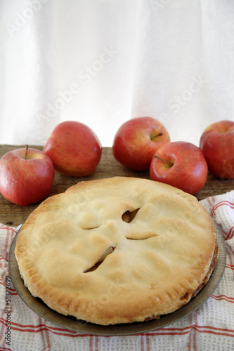 Fresh, homemade apple pie