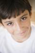 Smiling Hispanic boy