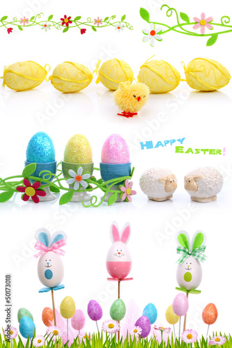 Decorations isolated on white for Easter - 50173018