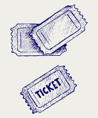 Ticket. Doodle style