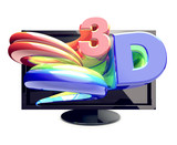 3-D TV  Most modern 3D television sets