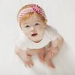 Serious Caucasian baby girl