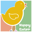 abstract Easter chick background