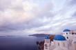 Orthodox Greek church overlooking ocean